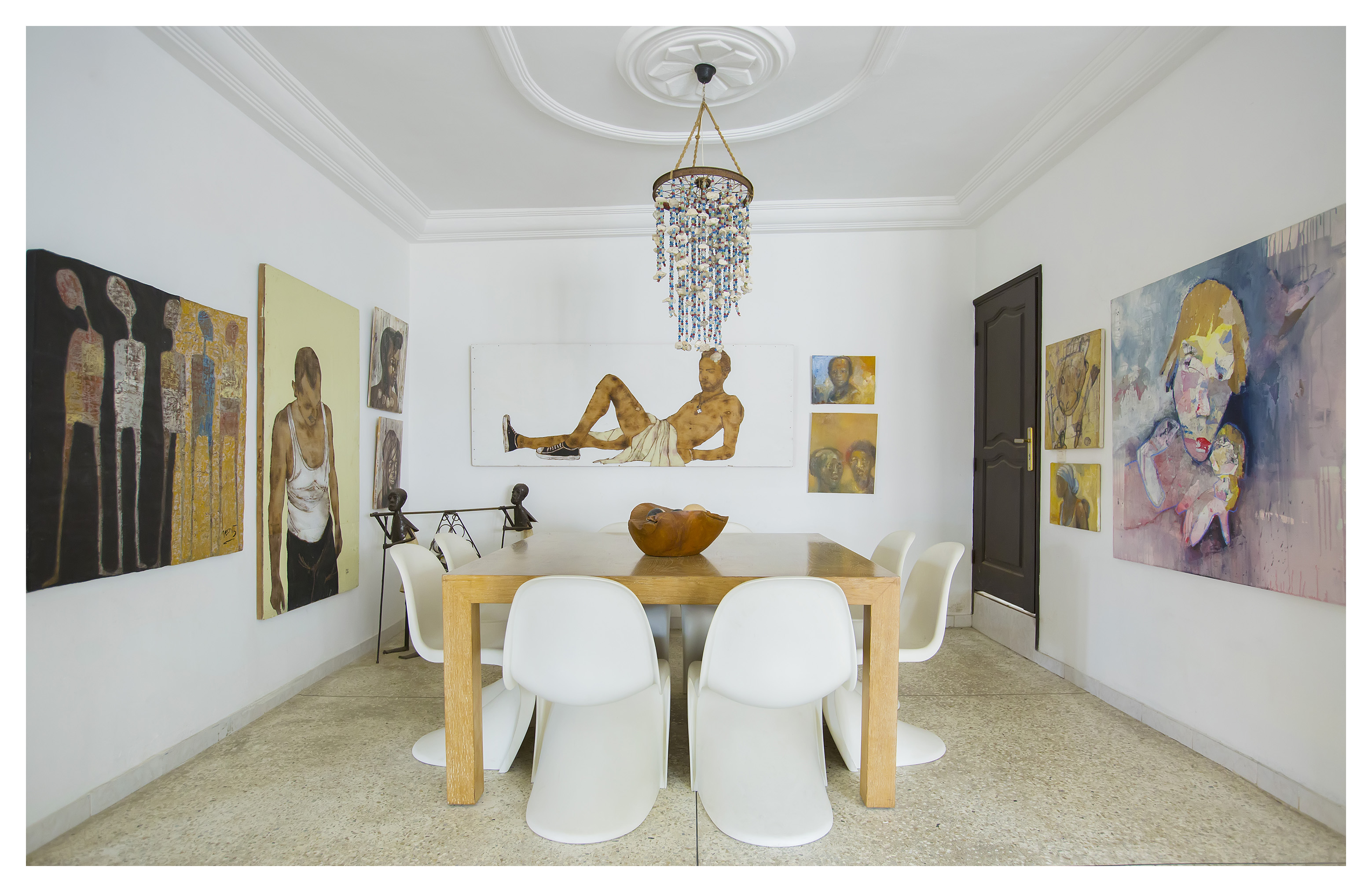 dinner, table, dining, room, interiors, african inspired,